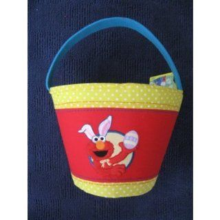 Large Sesame Street Embroidered Plush Elmo Easter Basket