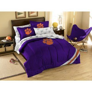 BSS   Clemson Tigers NCAA Bed in a Bag (Full) Everything
