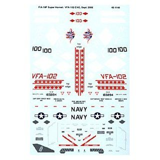 F/A 18 F Hornet: VFA 102, USS Kitty Hawk (1/48 decals