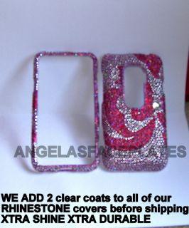 pink bling rhinestone crystal DIAMOND HTC Sprint EVO 3d phone case