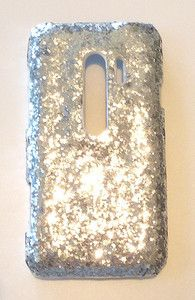For HTC Evo 3D Sprint ICY Bling Silver Diamond Sequin Phone Case Cover