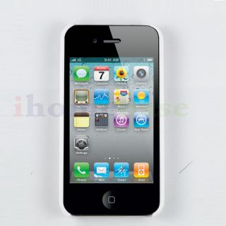 Cool Clear Hard Case for iPhone 4S 4 with FREE front & back screen