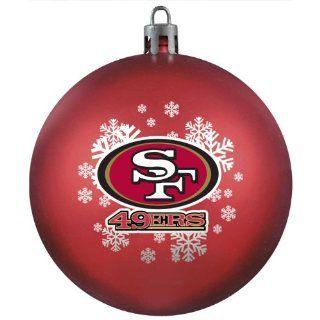 NFL San Francisco 49ers Shatter Proof Plastic Ornament