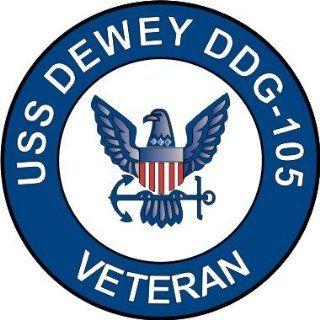 US Navy USS Dewey DDG 105 Ship Veteran Decal Sticker 3.8
