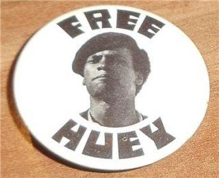 1960s Pin Free Huey Newton Pinback Black Panther Civil Rights Black