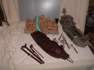 Huge Lego Lot Jabbas Sail Barge Pirate Ships Castle