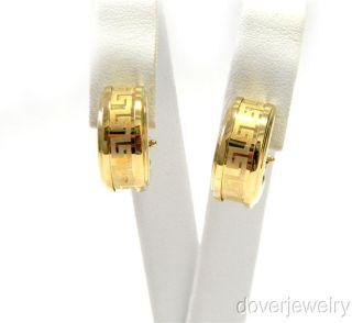 Estate Italy 14k Gold Huggie Earrings