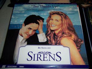Sirens Hugh Grant Sam Neil Elle Macpherson 2557AS Laser Disc Near Mint