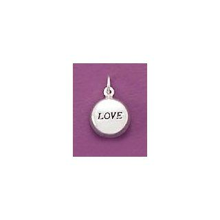 Sterling Silver Charm, 3/4 inch tall (incl bail), Oval