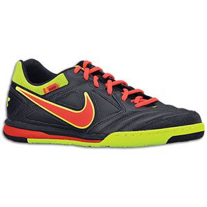 Nike Nike5 Gato Leather   Mens   Soccer   Shoes   Dark Obsidian/Volt