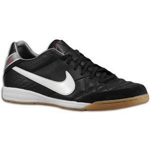 Nike Tiempo Mystic IV IC   Mens   Black/Challenge Red/Metallic Cool