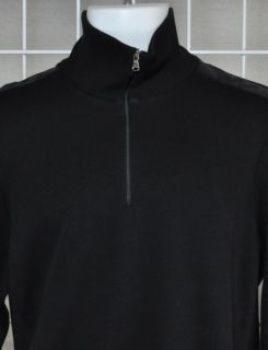 Hugo Boss Black Mock Neck Sweater Sondrio 1 4 Zip Black M $135