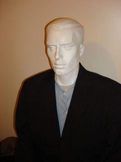Hugo Boss Black Label Einstein Sigma 2 Piece Suit Black Gold Pinstripe