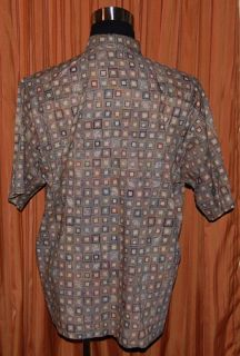 Tori Richard Short Sleeve Green Blue Brown Red 100 Cotton Lawn Shirt