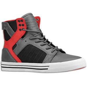 Supra Skytop   Mens   Skate   Shoes   Grey/Red/Black/White
