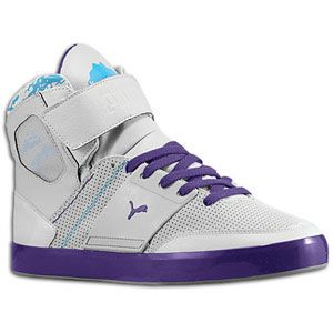 PUMA El Solo Hi   Mens   Basketball   Shoes   Grey/Purple/Blue/White
