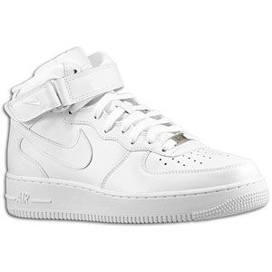 Nike Air Force 1 Mid   Mens   Basketball   Shoes   White/White