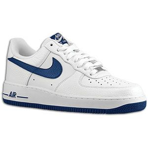 Nike Air Force 1 Low   Mens   Basketball   Shoes   White/Midnight