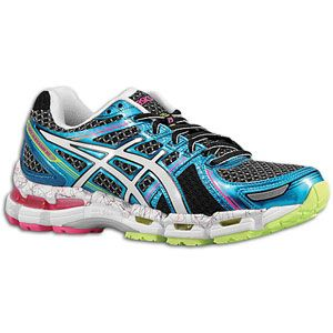 ASICS® Gel   Kayano 19   Womens   Running   Shoes   Black/White/Pink