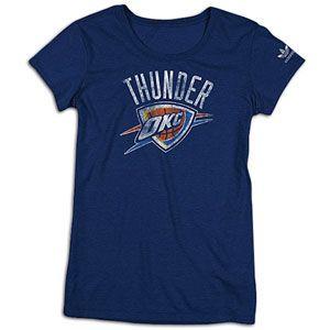 adidas NBA Trefoil T Shirt   Womens   Basketball   Fan Gear   Thunder