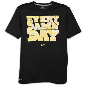 Nike Every Damn Day T Shirt   Mens   Training   Clothing   Black/Dk