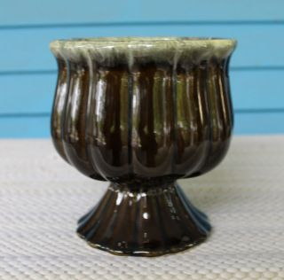 Hull Pottery Brown Planter Vase