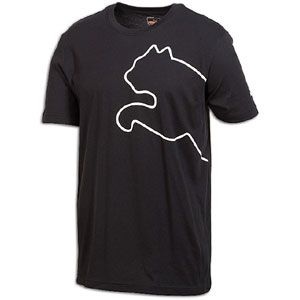 PUMA New Cat S/S T Shirt   Mens   Casual   Clothing   Black