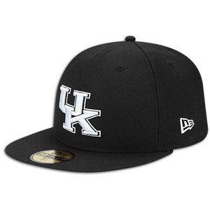 New Era 59Fifty College Black & White Cap   Mens   Kentucky   Black
