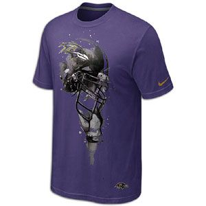 Nike NFL Tri Blend Helmet T Shirt   Mens   Baltimore Ravens   New