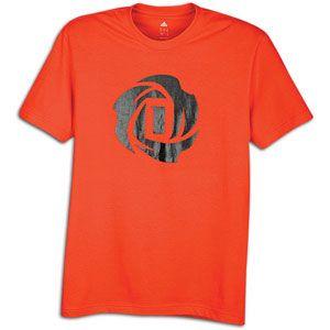 adidas Rose Logo T Shirt   Mens   Basketball   Clothing   Infrared