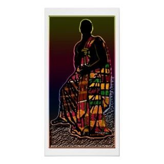 African Praying Man Print