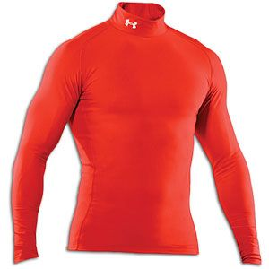 Under Armour Coldgear Game Day Compression Mock   Mens   Dark Orange