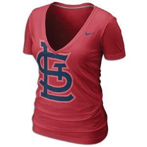 Nike MLB Deep V Burnout T Shirt   Womens   Baseball   Fan Gear