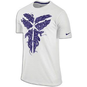 Nike Kobe Black Mamba Snake Sheath T Shirt   Mens   White/Court