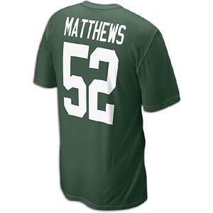 Nike NFL Player T Shirt   Mens   Clay Matthews   Green Bay Packers