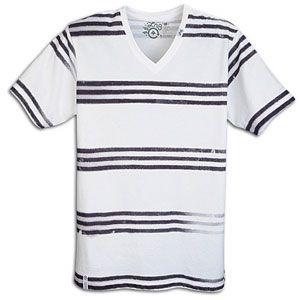 LRG Freak A Streak V Neck Knit Tee   Mens   Skate   Clothing   White