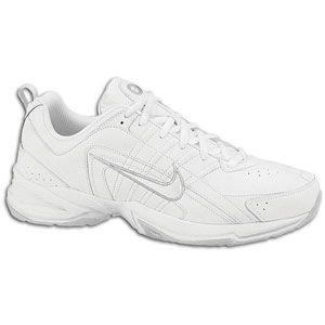 Nike T Lite VIII Leather   Womens   White/White/Neutral Grey/Metallic