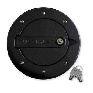 Hummer H3 H3T Black Locking Fuel Door w Logo