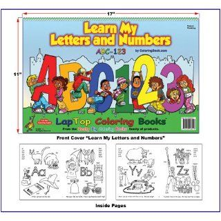 Learn My Letters and Numbers ABC 123 Coloring Book (17x11