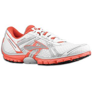 Brooks PureCadence   Womens   Running   Shoes   White/Cayenne/Silver
