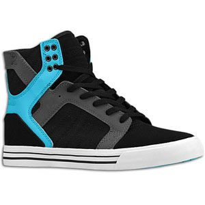 Supra Skytop   Mens   Skate   Shoes   Black/Turqouise/Grey/White