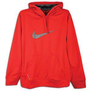 Nike KO Swoosh Logo Hoodie   Mens   Training   Clothing   Gym Red/Dk