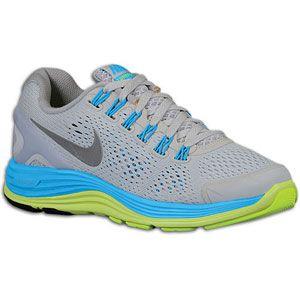 Nike LunarGlide 4   Boys Grade School   Pure Platinum/Blue Glow/Volt