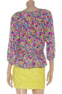 Rebecca Taylor Floral print silk blouse   45% Off