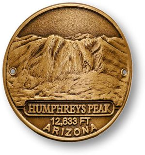 Humphreys Peak Hiking Stick Medallion Challenge Coin