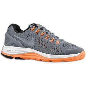 Nike LunarGlide 4   Boys Grade School   Cool Grey/White/Total Orange
