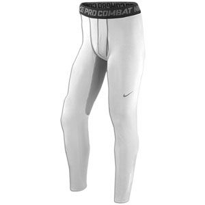Nike Pro Combat Hyperwarm Dri FIT Max Tight   Mens   White/Matte