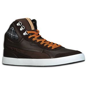 PUMA Suburb Mid Winter   Mens   Basketball   Shoes   Chocolate/White