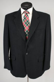 Hunt Valley Mens Black Luxury 100 Camel Hair Blazer Sport Coat 42 R
