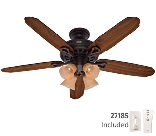 ... Reconditioned Hunter HR23272 60 Inch New Bronze Ceiling Fan with Light